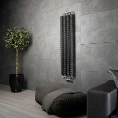 Terma Ribbon - Silver Matt Vertical Designer Radiator 1720mm x 390mm