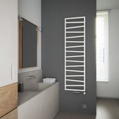 Terma ZigZag - White Vertical Heated Towel Rail - 1780mm x 500mm
