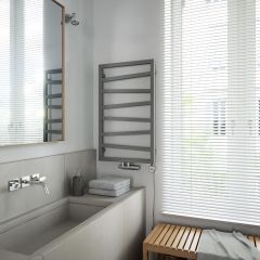 Terma ZigZag - Silver Vertical Heated Towel Rail - 835mm x 500mm