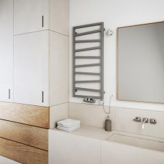 Terma ZigZag - Silver Vertical Heated Towel Rail - 1070mm x 500mm