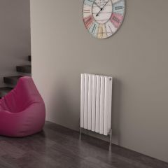 Milano Aruba Ayre - Aluminium White Horizontal Designer Radiator - 600mm x 410mm (Double Panel)