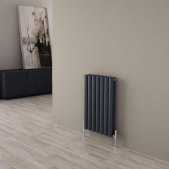 Milano Aruba Ayre - Aluminium Anthracite Horizontal Designer Radiator - 600mm x 410mm (Double Panel)