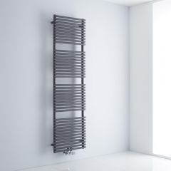 Milano Via - Anthracite Bar on Bar Central Connection Heated Towel Rail - 1800mm x 500mm