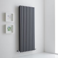 Milano Aruba Aiko - Anthracite Vertical Designer Radiator 1400mm x 590mm (Double)