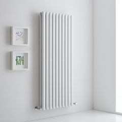 Milano Aruba Aiko - White Vertical Designer Radiator 1400mm x 590mm (Double)