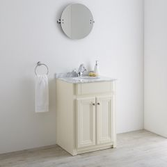 Milano Edgworth 600mm Traditional Vanity Unit with Basin - Ivory