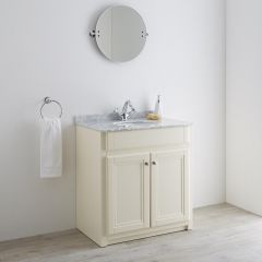 Milano Edgworth 800mm Traditional Vanity Unit with Basin - Ivory