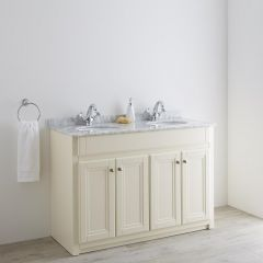 Milano Edgworth 1200mm Traditional Vanity Unit with Double Basin - Ivory