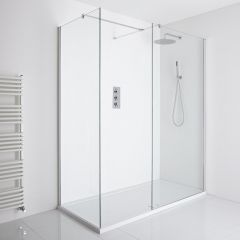 Milano Portland Corner Walk-In Shower Enclosure (1100 x 760mm) - Inc. Tray