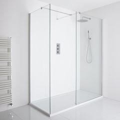 Milano Portland Corner Walk-In Shower Enclosure (1600 x 800mm) - Inc. Tray