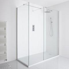 Milano Portland Corner Walk-In Shower Enclosure (1400 x 900mm) - Inc. Walk-in Tray