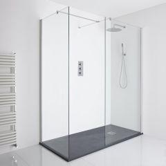 Milano Portland Corner Walk-In Shower Enclosure (1400 x 800mm) - Inc. Slate Tray