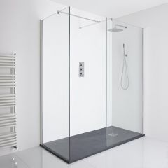 Milano Portland Corner Walk-In Shower Enclosure (1700 x 800mm) - Inc. Slate Tray