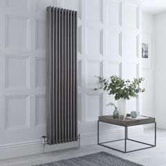 Milano Windsor - Lacquered Raw Metal Traditional Vertical Column Radiator - 1800mm x 473mm (Triple Column)
