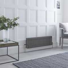 Milano Windsor - Traditional Lacqured Raw Metal Vertical Column Radiator - 300mm x 1013mm (Triple Column)