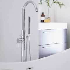 Milano Mirage Freestanding Bath Shower Mixer Tap with Shower Kit