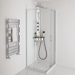 Milano Portland 900mm Corner Entry Shower Enclosure 6mm