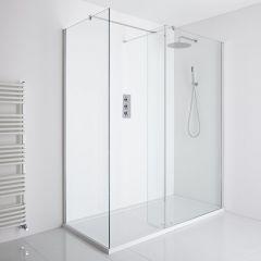 Milano Portland Corner Walk-In Shower Enclosure (1700 x 800mm) - Inc. Tray & Return Panel