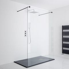 Milano Floating Walk-In Shower (1400 x 900mm) - Inc. Slate Tray