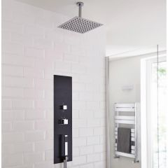 Milano Lisse Concealed Shower Tower with 300mm Square Head and Ceiling Arm