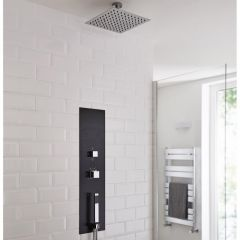 Milano Lisse Concealed Shower Tower with 300mm Square Head and Short Ceiling Arm