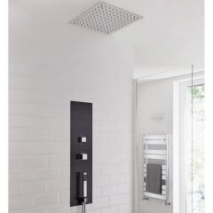 Milano Lisse Concealed Shower Tower with 280mm Square Recessed Ceiling Head