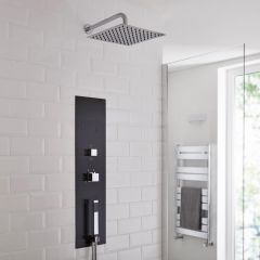 Milano Lisse Concealed Shower Tower with 200mm Square Head and Wall Arm