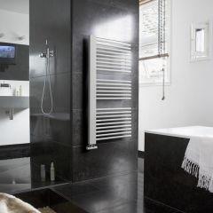 Lazzarini Way Grando - White Designer Heated Towel Rail - 1190mm x 600mm