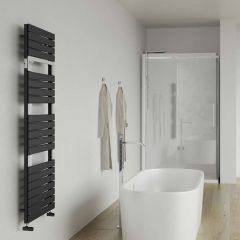 Lazzarini Way - Torino - Anthracite Designer Heated Towel Rail - 1360 x 550mm