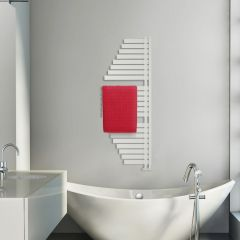 Lazzarini Way - Spinnaker - Mineral White Designer Heated Towel Rail - 1460mm x 547mm