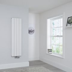Milano Kit Aluminium Double Radiator White - 1400 x 375mm