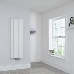 Milano Kit Aluminium Double Radiator White - 1400 x 470mm