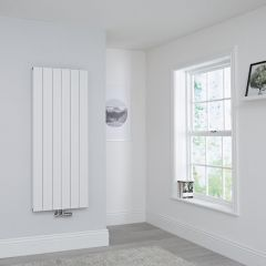 Milano Kit Aluminium Double Radiator White - 1400 x 565mm