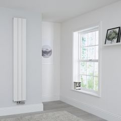 Milano Kit Aluminium Double Radiator White - 1800 x 280mm