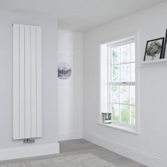 Milano Kit Aluminium Double Radiator White - 1800 x 470mm