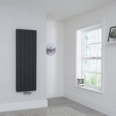 Milano Kit Aluminium Double Radiator Anthracite - 1400 x 470mm