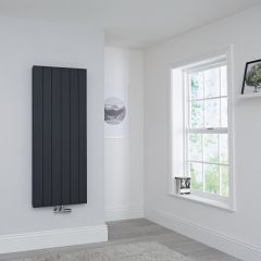 Milano Kit Aluminium Double Radiator Anthracite - 1400 x 565mm