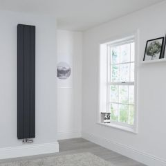 Milano Kit Aluminium Double Radiator Anthracite - 1800 x 280mm