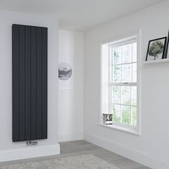 Milano Kit Aluminium Double Radiator Anthracite - 1800 x 565mm