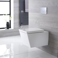 Milano Dalton - Square Wall Hung Toilet with Soft Close Seat