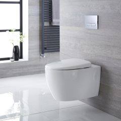 Milano Altham - Oval Wall Hung Toilet with Soft Close Seat