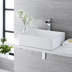 Milano Westby - Rectangular Ceramic Countertop Basin 490X390mm