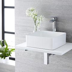 Milano Rivington - Square Ceramic Countertop Basin - 360mm