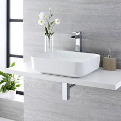 Milano Longton - Rectangular Ceramic Countertop Basin - 500mm x 390mm
