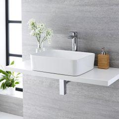 Milano Rivington - Rectangular Ceramic Countertop Basin 480 x 370mm