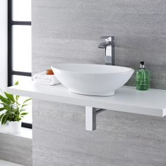 Milano Altham - Oval Ceramic Countertop Basin - 520mm x 320mm