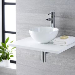 Milano Irwell - Round Ceramic Countertop Basin - 320mm