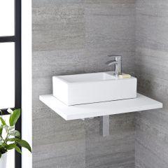 Milano Elswick - Ceramic Countertop Basin - 450mm x 250mm