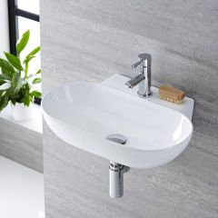 Milano Overton - Ceramic Wall Hung Basin 555 x 395mm