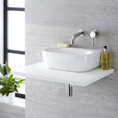 Milano Mellor - Oval Ceramic Countertop Basin - 420mm x 280mm